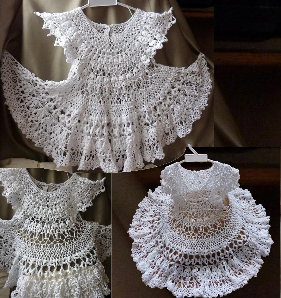 Платья новогодние крючком схемы
