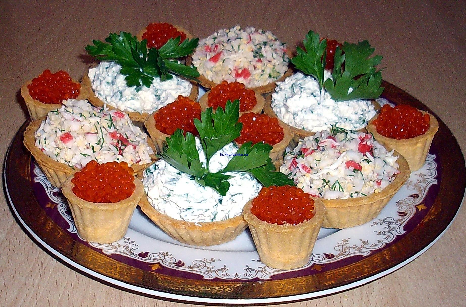 Бутерброды из тарталеток рецепты с фото