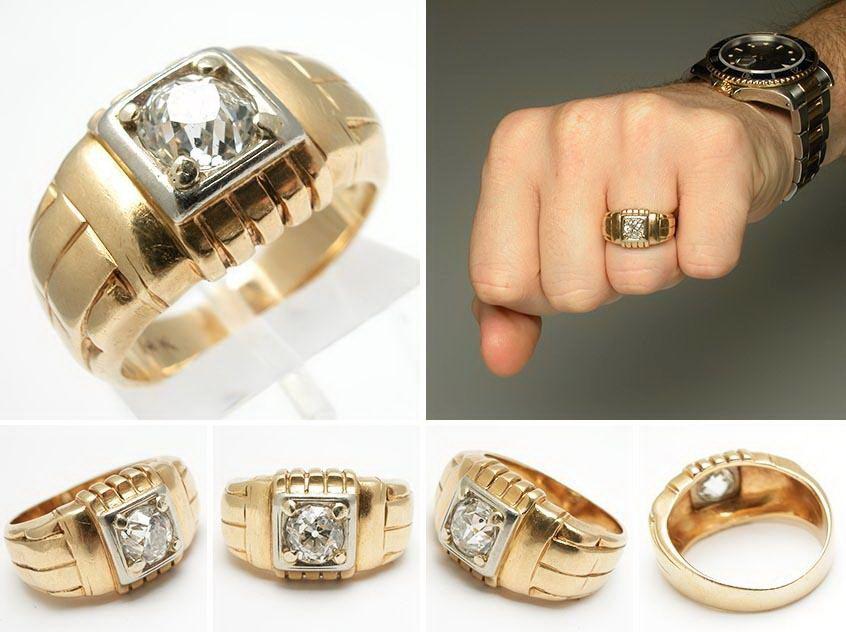 Купить золотое обручальное мужское кольцо
