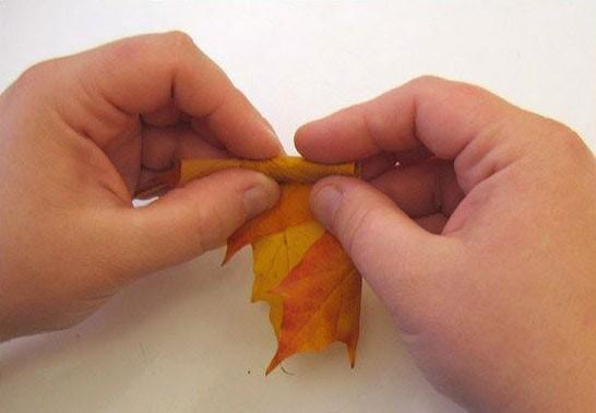 Сворачиваем лист