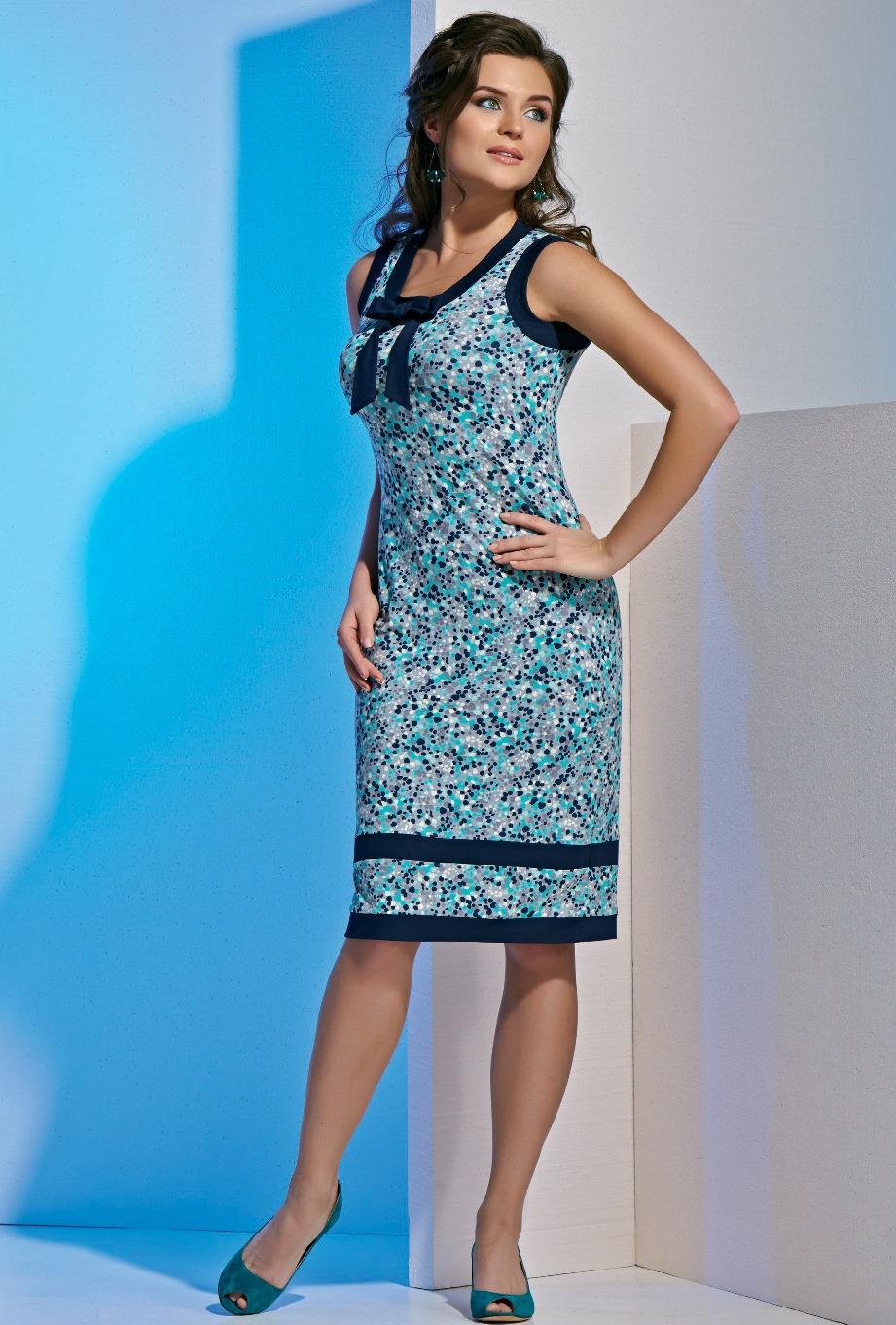 Платье из вискозы на полных