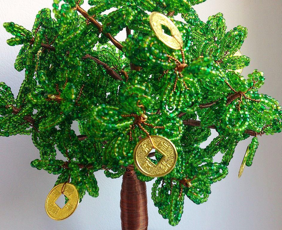 Денежное дерево из бисера сделанное своими руками схемы