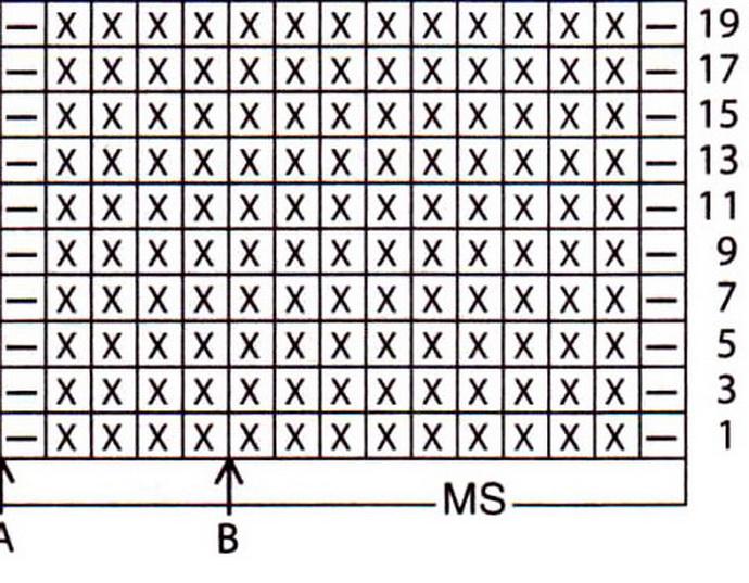Вязание платочной вязкой схема 855