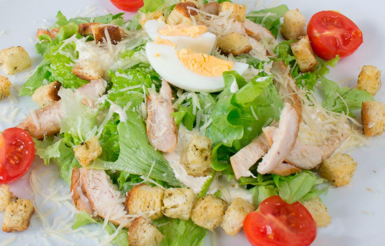 рецепт салата цезарь с курицей вкусный рецепт