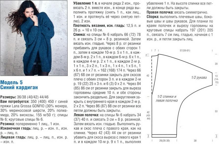 Узоры и схемы для вязания кардигана 99