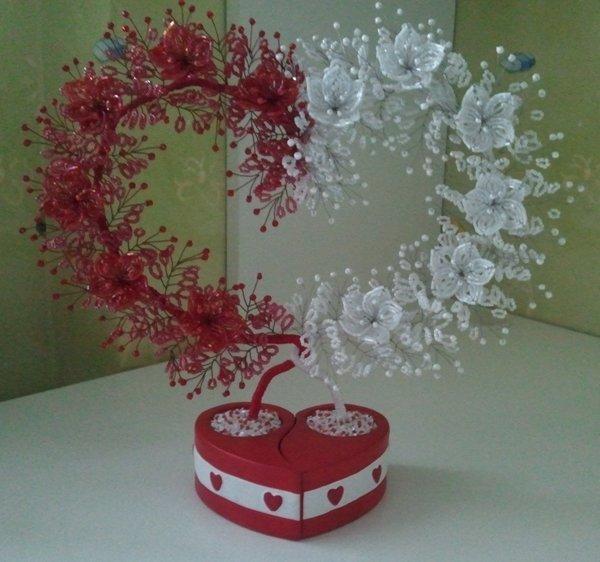 Дерево любви из бисера мастер класс с пошаговым фото