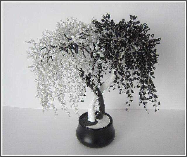 Схема из бисера дерево инь янь и фото