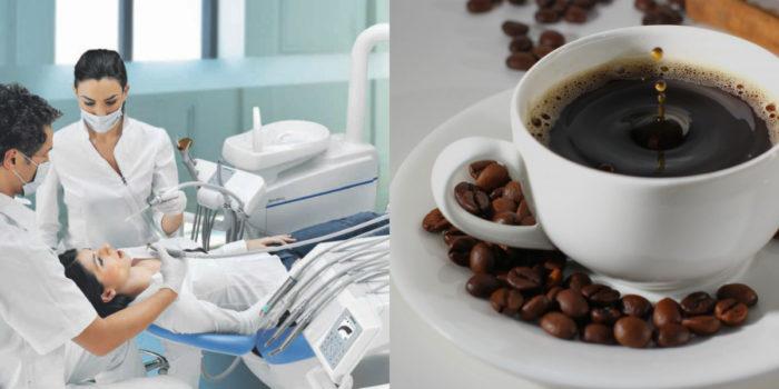 После отбеливания, лечения или пломбирования зубов от кофе рекомендуется воздержаться в течение 3 дней.