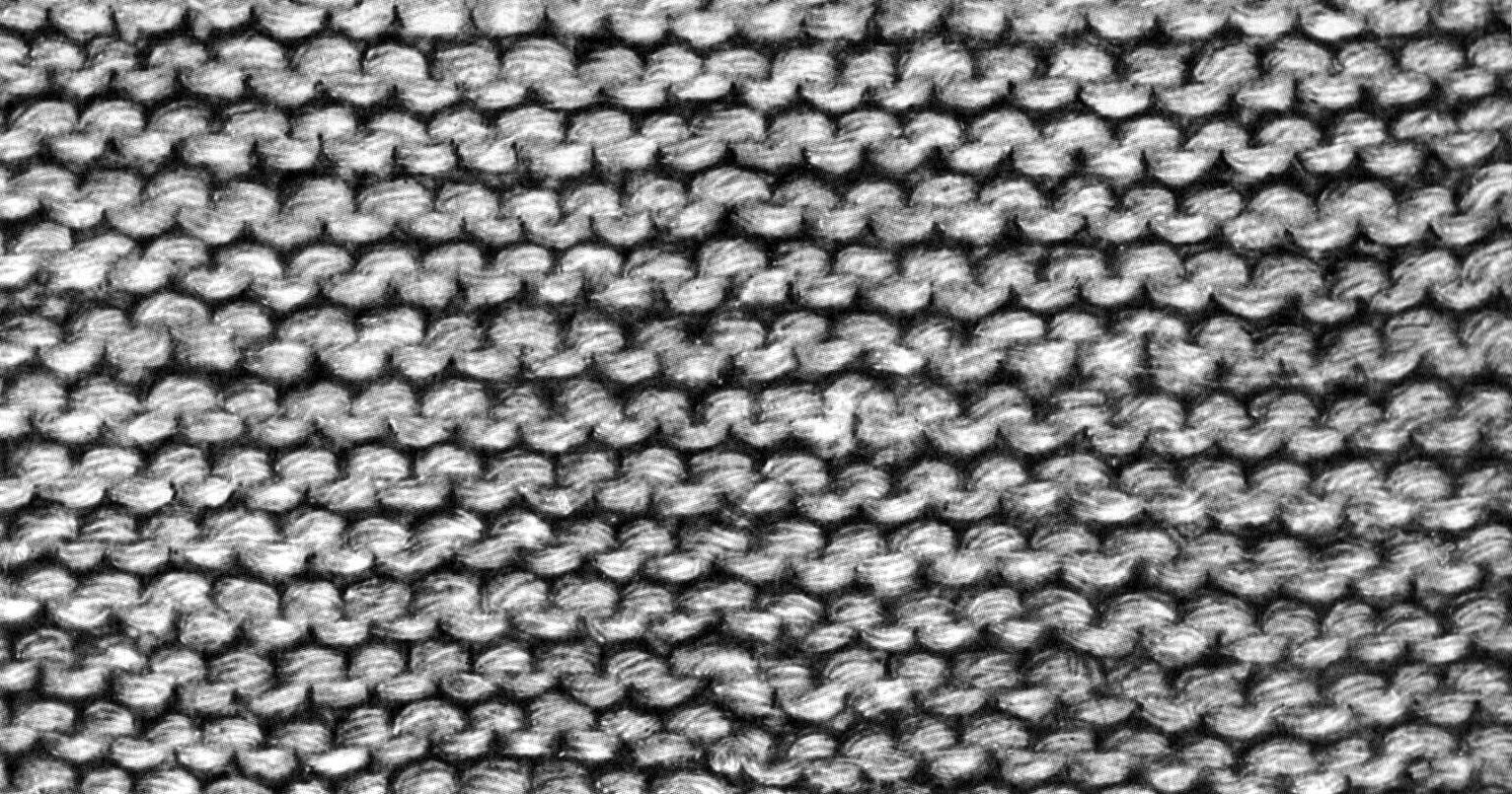 Вязание узоров спицами. Платочная и чулочная вязка 39