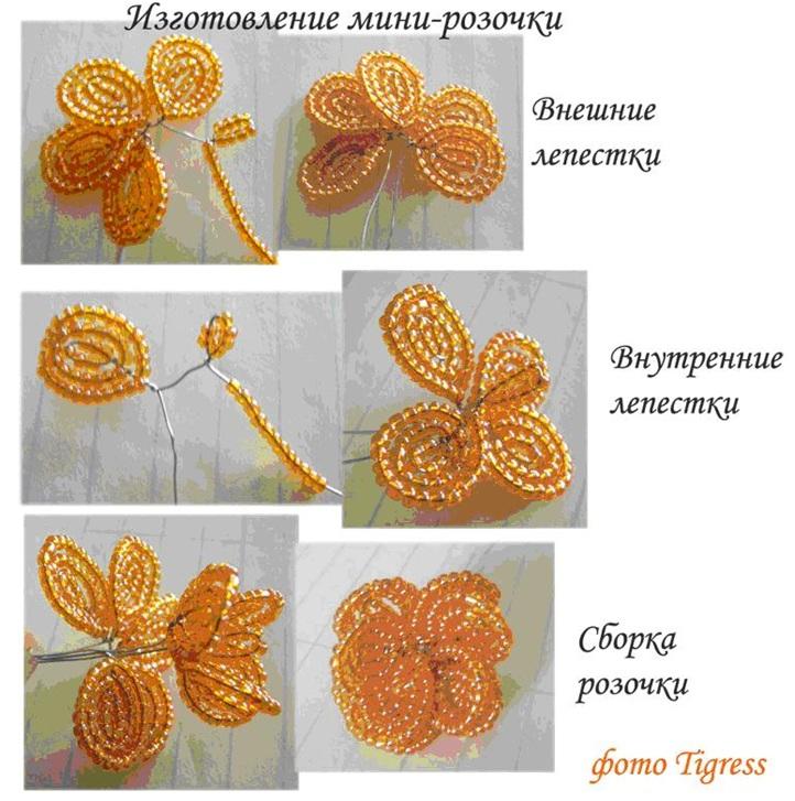 Как из бисера сделать цветок самый простой