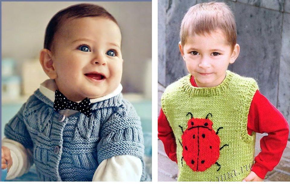 Вязание спицами для мальчиков 1 и 2 года