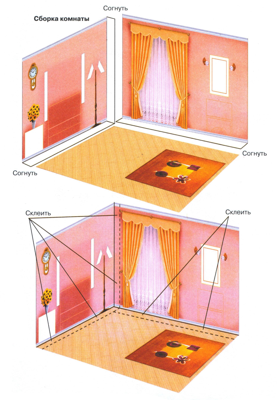 Как сделать спальню из картона