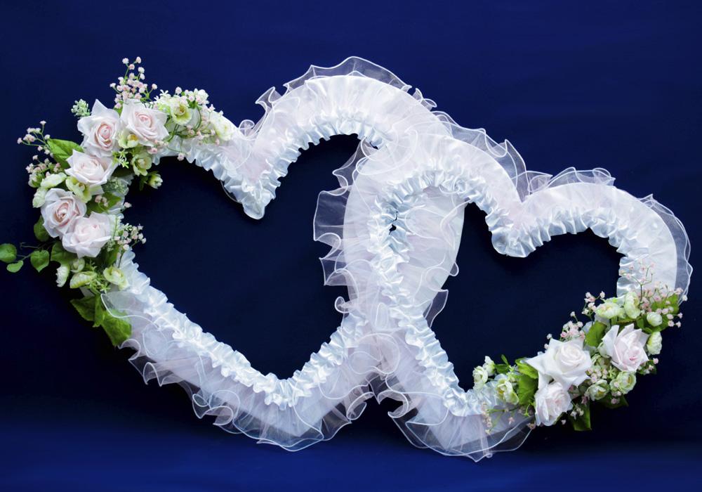 Украшение сердце на свадьбу своими руками