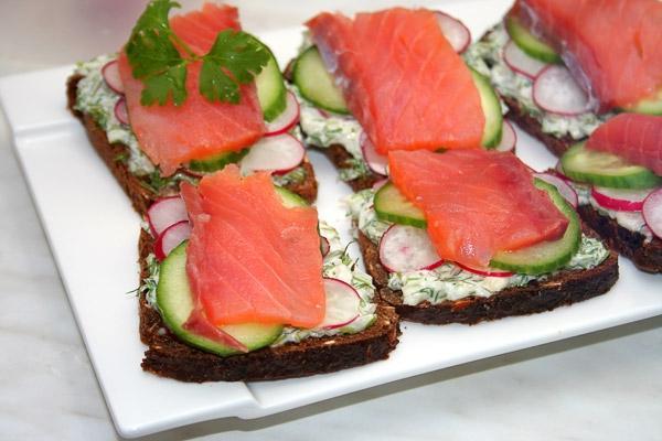 Бутерброды с рыбой рецепты