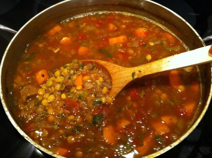 рецепт супа из чечевицы с мясом итальянский