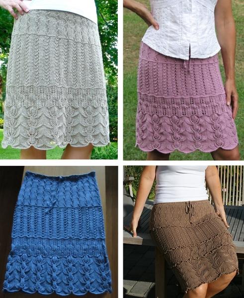 Ажурные юбки спицами со схемами фото 796