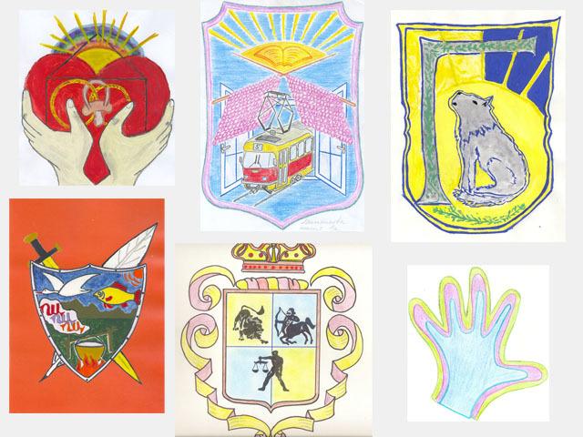 герб личности по психологии рисунки