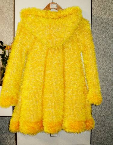 Вязание с травкой пальто для девочки