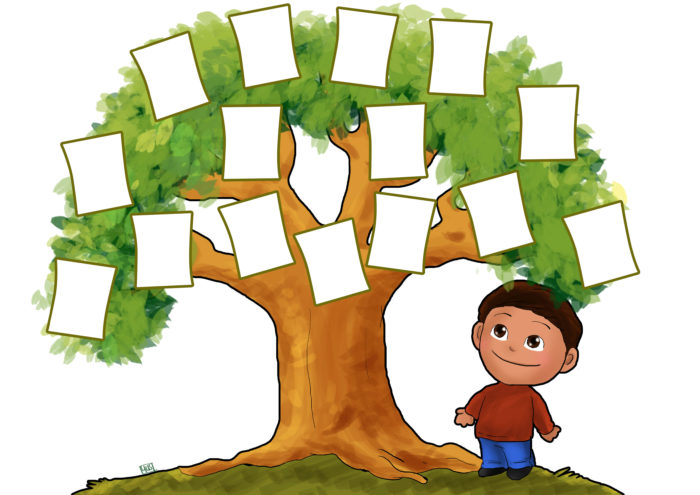 Схема рисунок древо семьи