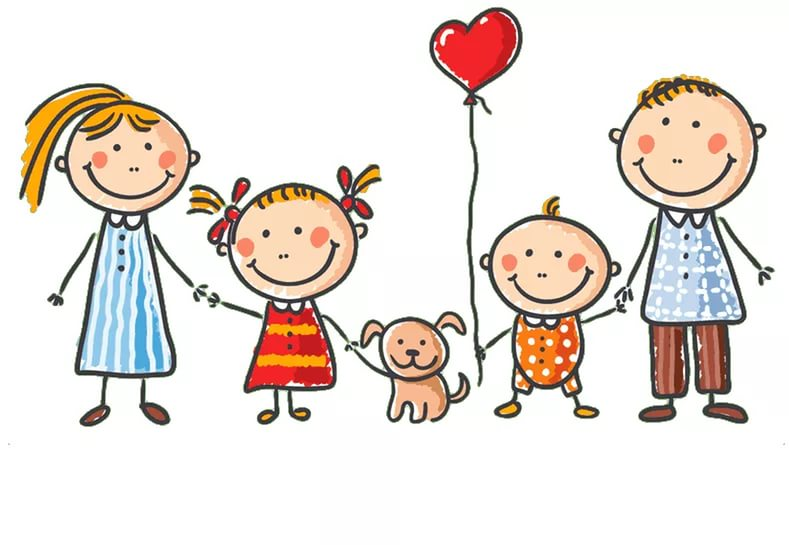 Картинки по запросу семья рисунок