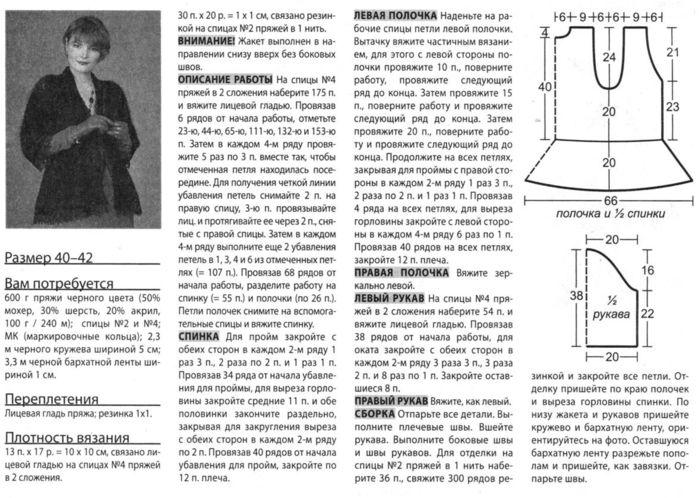 Ажурный кардиган из мохера спицами схемы и описание