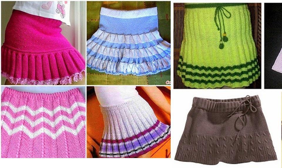 Как связать девочке красивую юбку