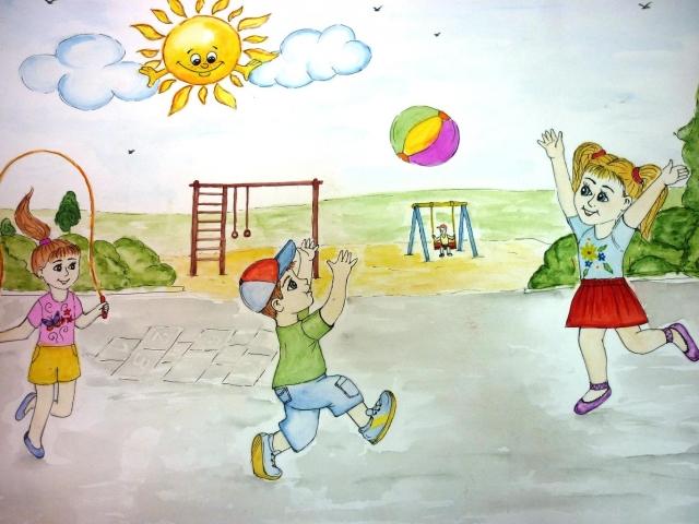 Камыши рисунок детский