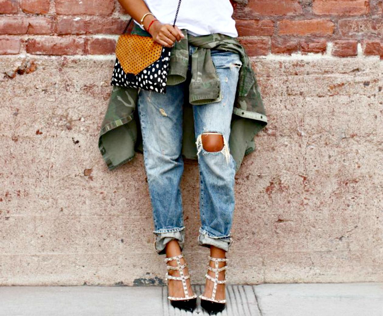 Фото как сделать рваные джинсы модными