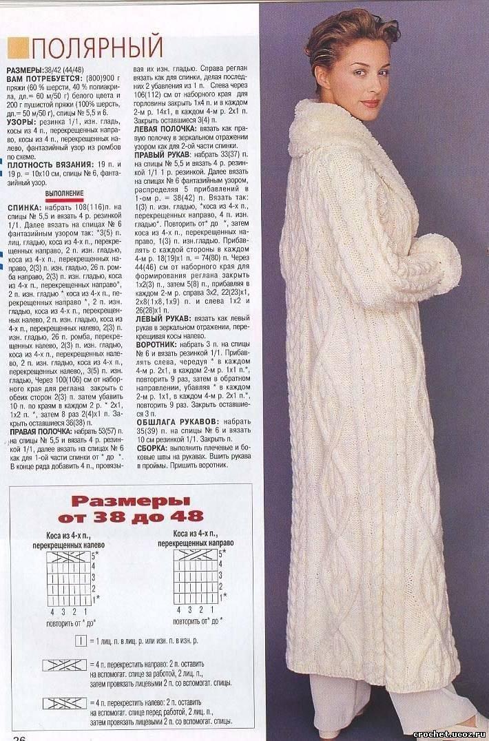 Вязание пальто женское с описанием 264