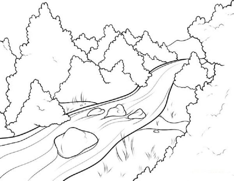 картинки осень для срисовки легкие