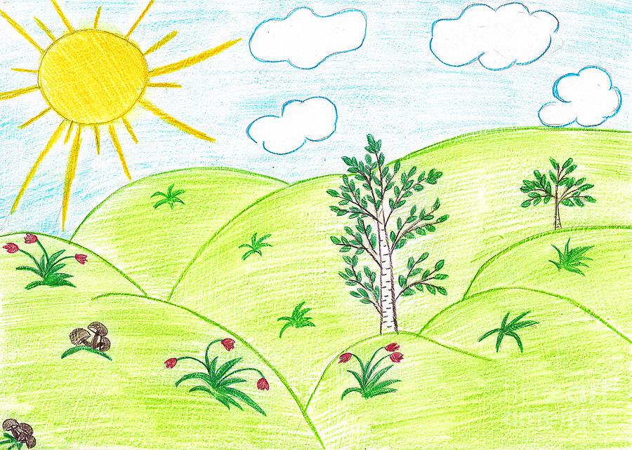 Детские рисунки начало лета