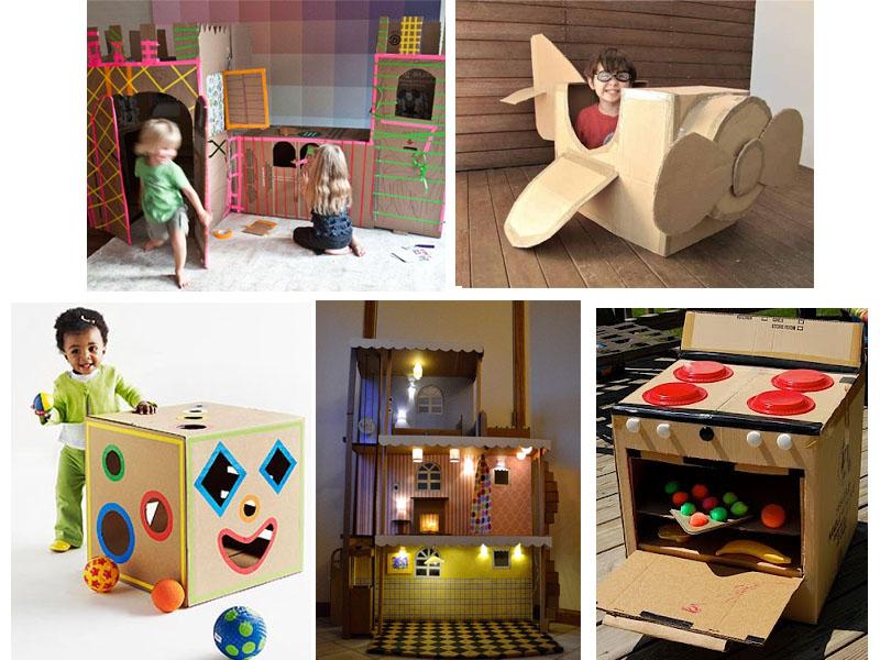 Идеи из картона для детей своими руками