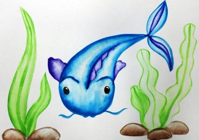 Рисунок сома в аквариуме