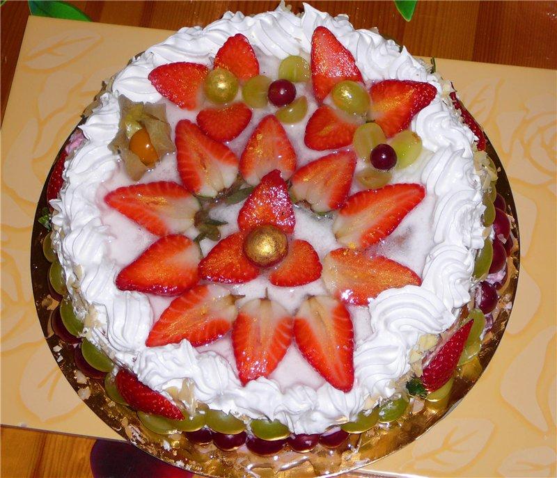 Украшаем торт своими руками фрукты 67