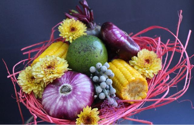Осенний букет из овощей своими руками