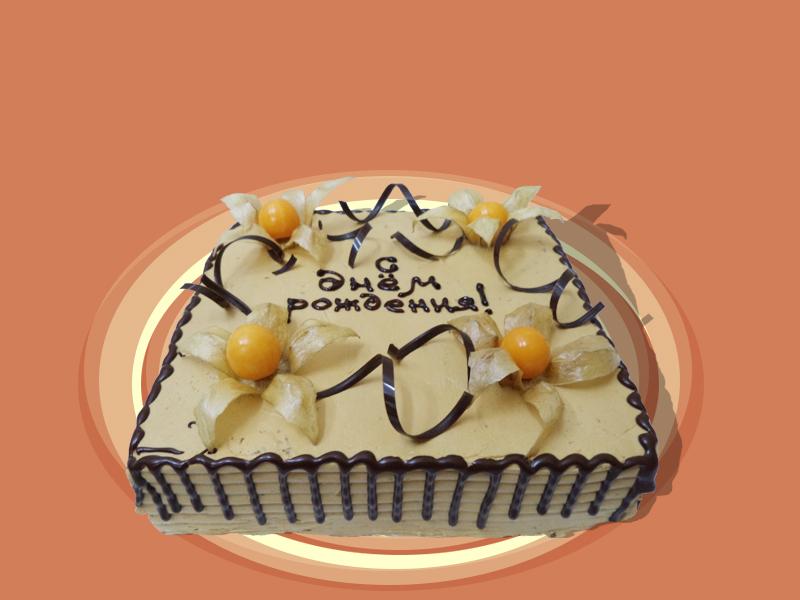 украсить торт безе и физалисом