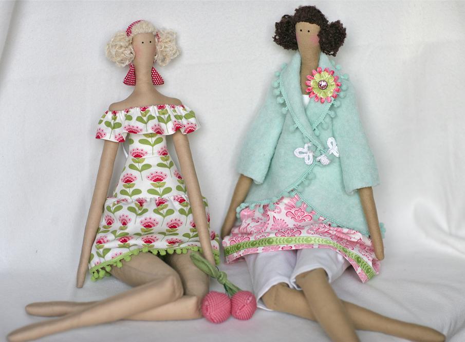 Кукла из ткани тильда