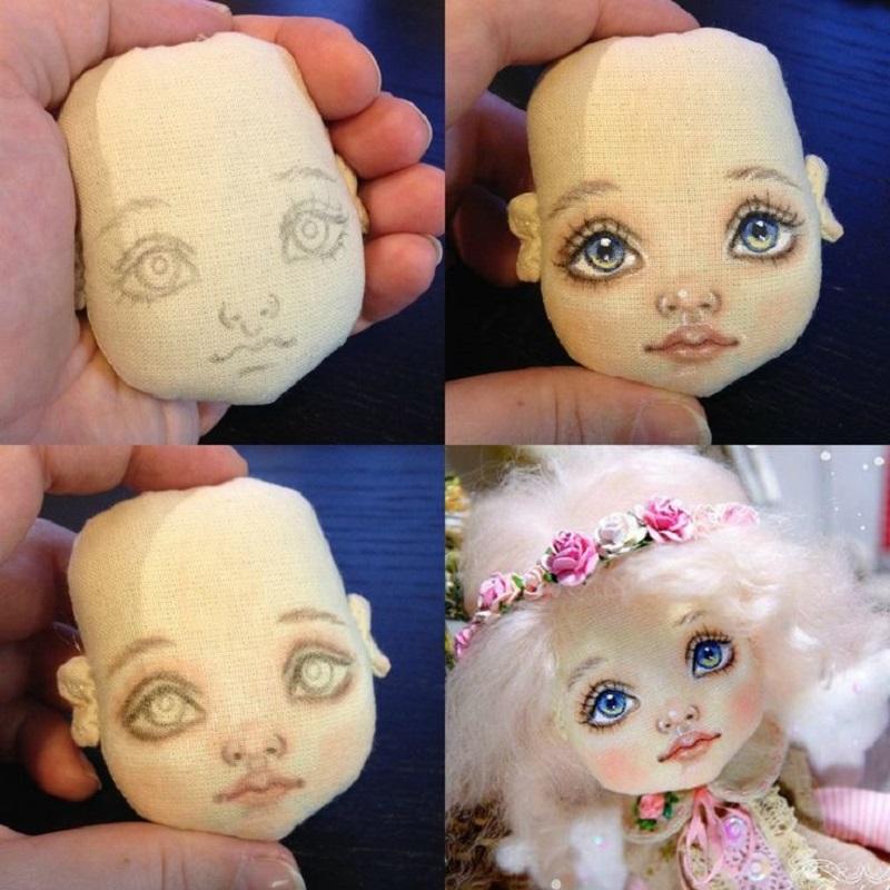 Сшить лицо для куклы из 764