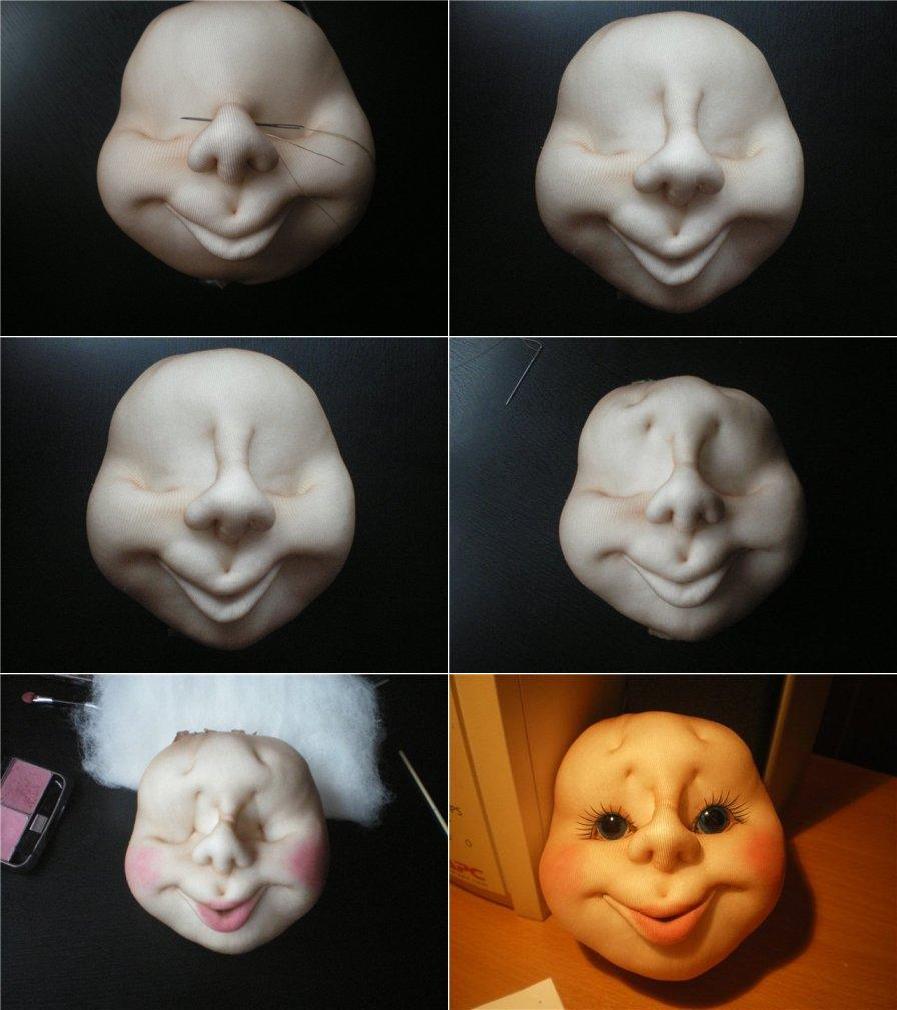 Сделать своими руками голову для куклы из 322