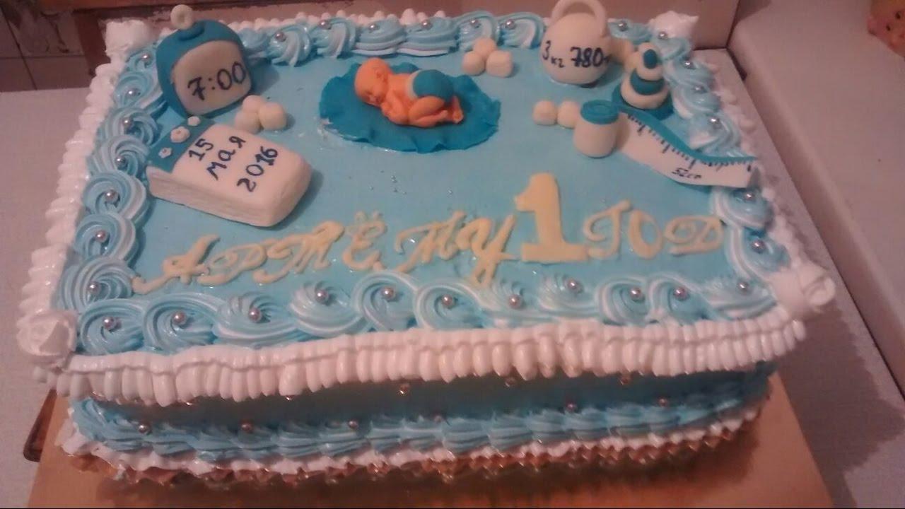красиво украсить торт детский Наполеон мальчику и девочке