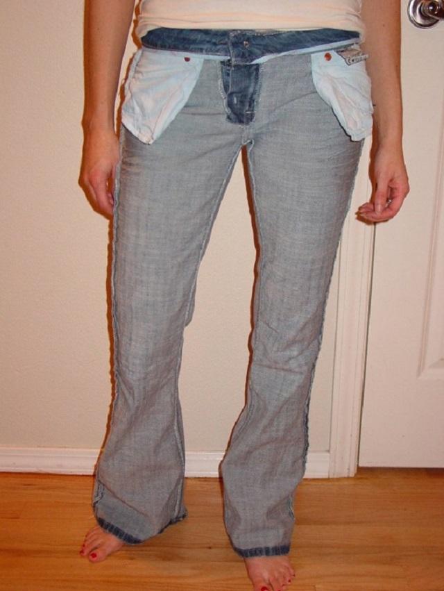 Как сделать зауженные джинсы