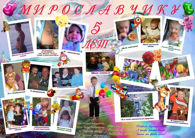 Плакат для ребенка на день рождения с