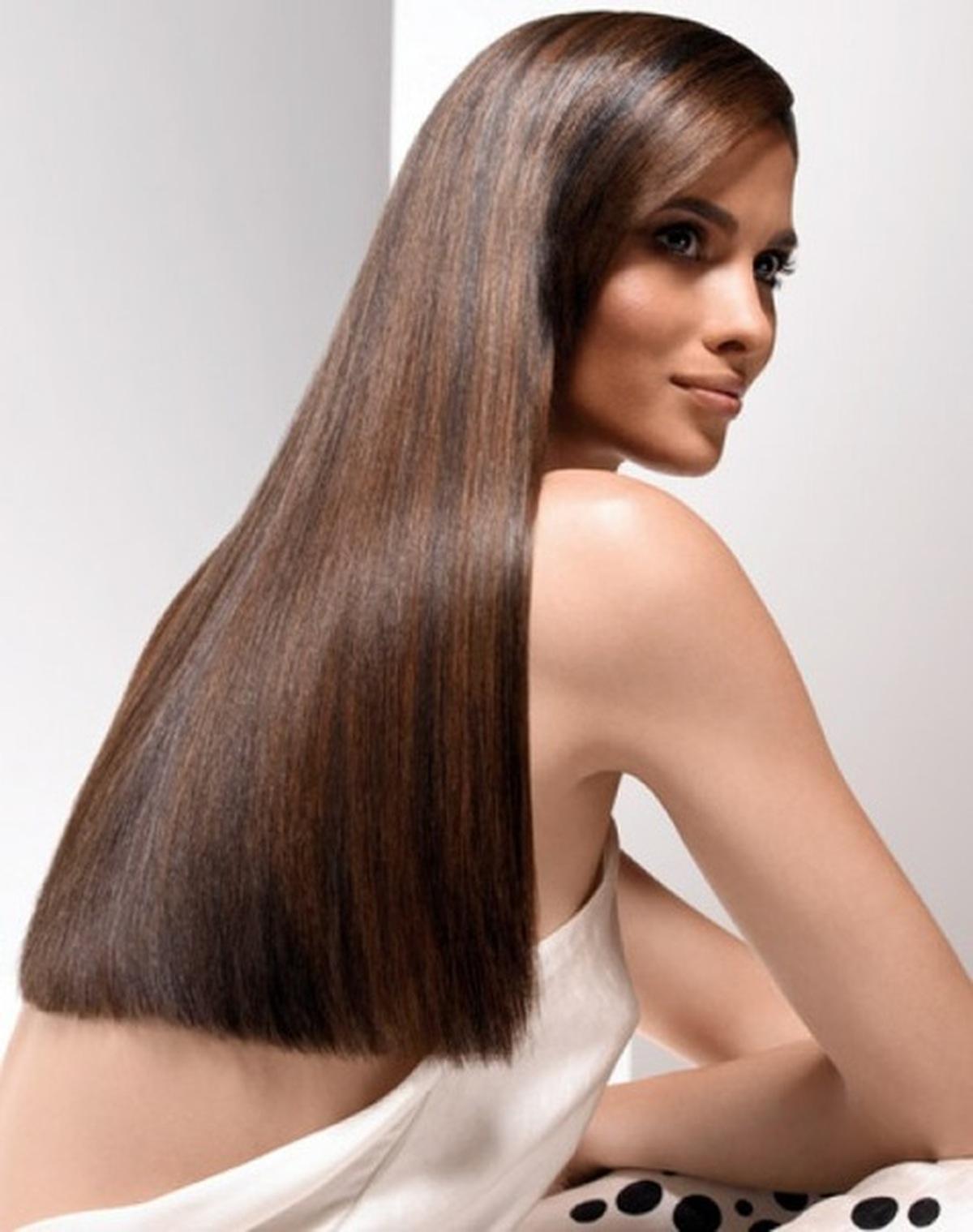 шатуш на темные длинные прямые волосы