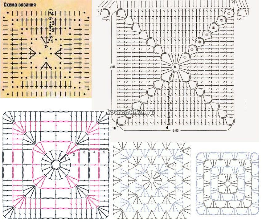 Вязание из полиэтиленовых мешков ковриков схемы
