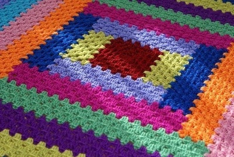 Вяжем прямоугольный коврик своими руками