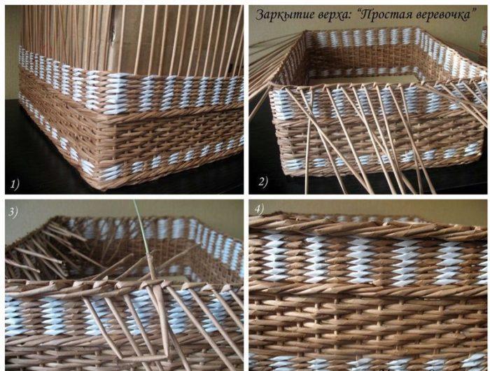 Плетение коробка схема