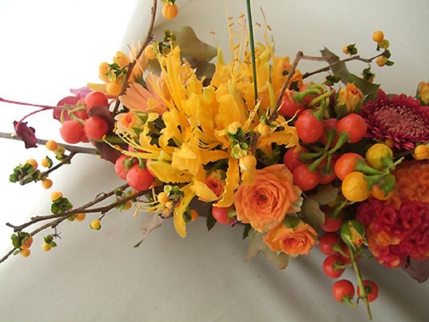 Экибана своими руками из живых цветов 82