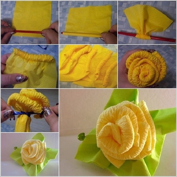Розы из полотенец своими руками мастер класс 15