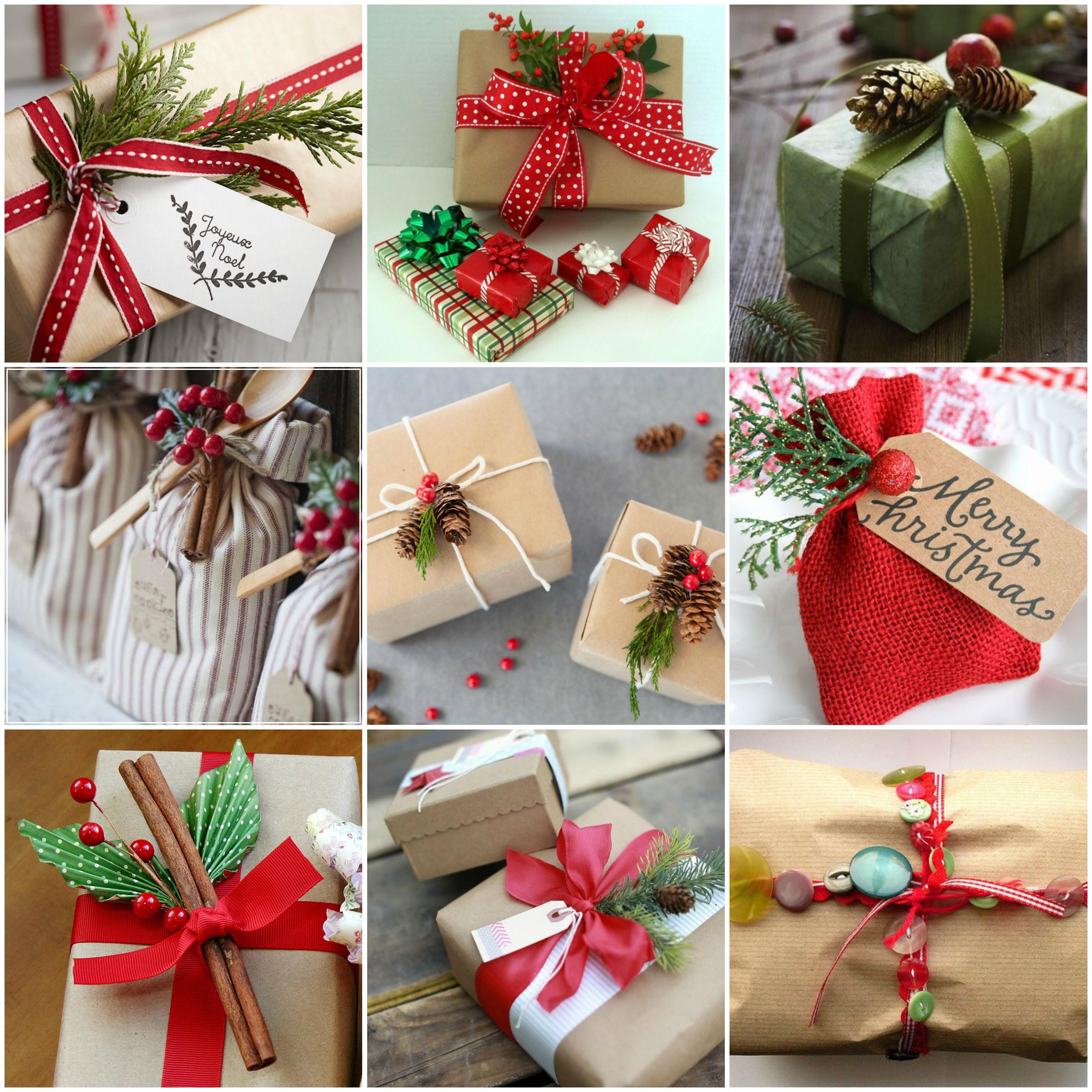 Новогоднее оформление подарков своими руками фото