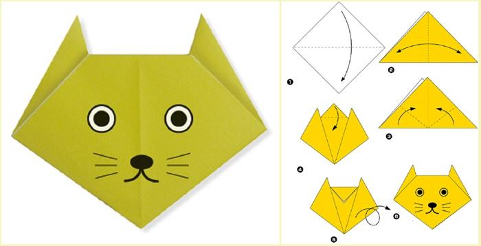 Оригами для детей: оригами для начинающих, схемы для детей.